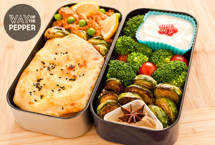 Bento: Butter Chicken with Naan